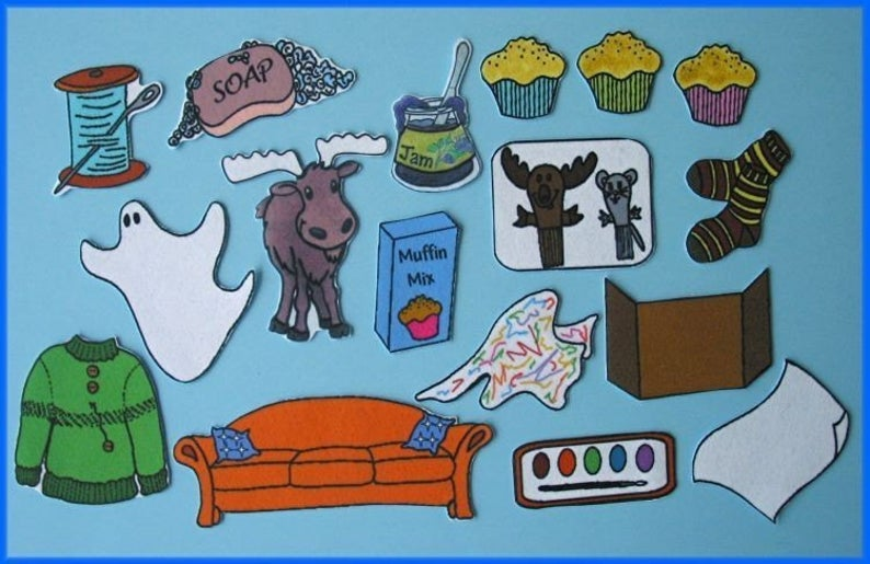 If You Give a Moose a Muffin Felt / Flannel Board Set.