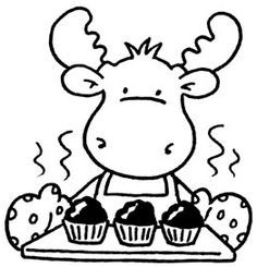 Moose Clipart Muffin Unique If You Give A Moose A Muffin Coloring.
