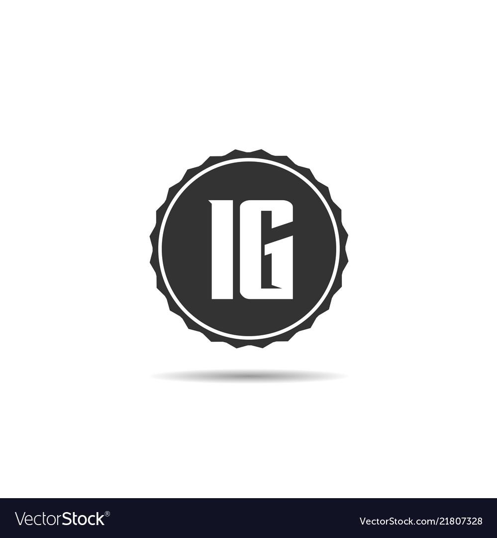 Initial letter ig logo template design.