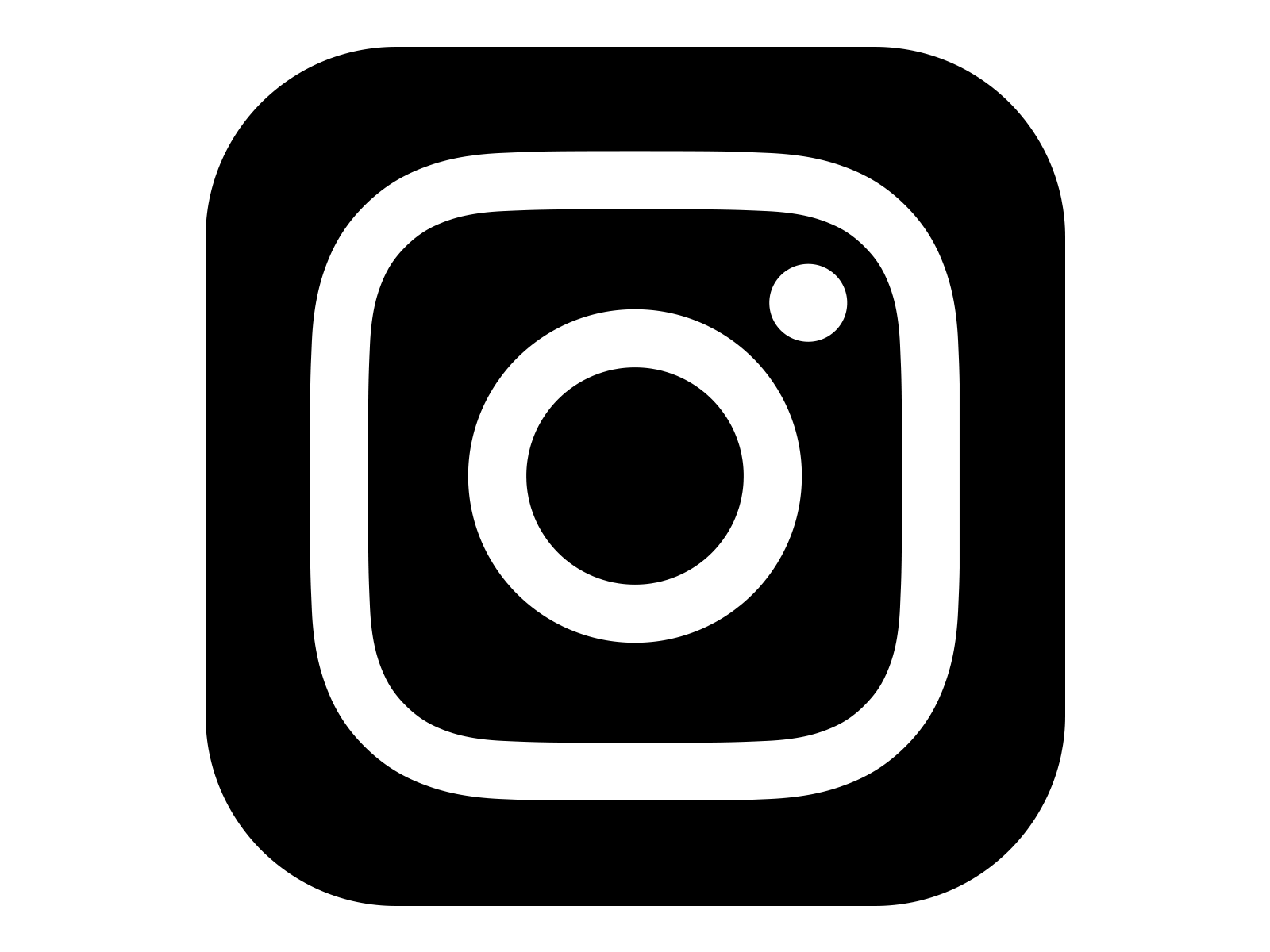 Instagram Icon White on Black in 2019.
