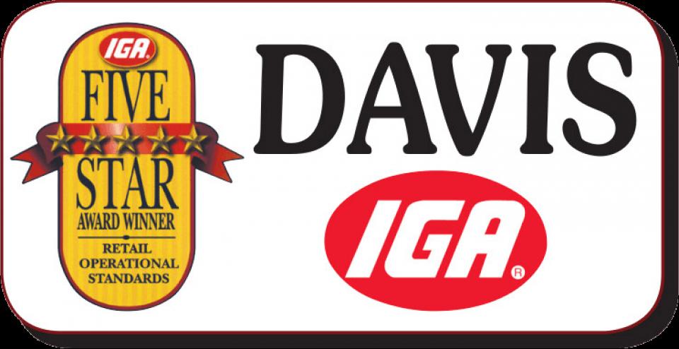 Davis IGA.