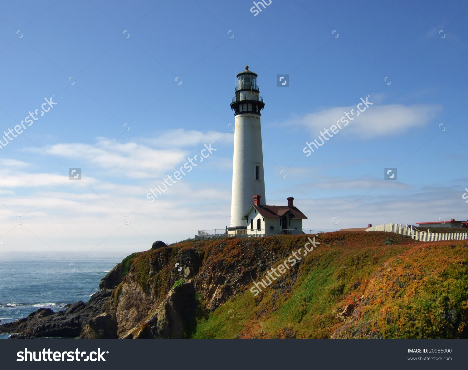 Pigeon Point Lighthouse With Rocky Coastline Stock Photo 20986000.