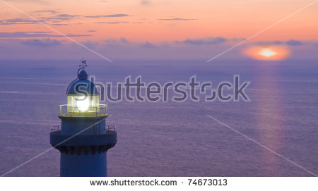 Dark Water Night Lighthouse Stock Photos, Royalty.