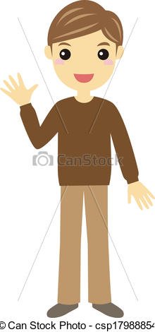 Full Body Man Clipart.