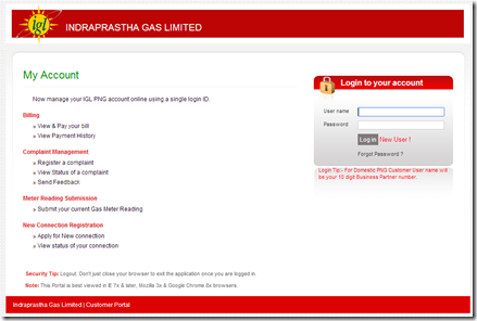 IGL Online Payment of Bills and IGL Duplicate Bills.