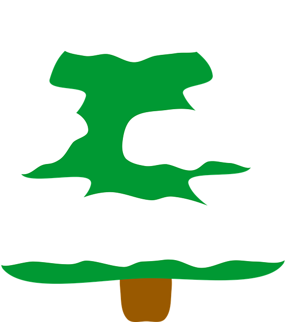 Free vector graphic: Snowy Christmas Tree.