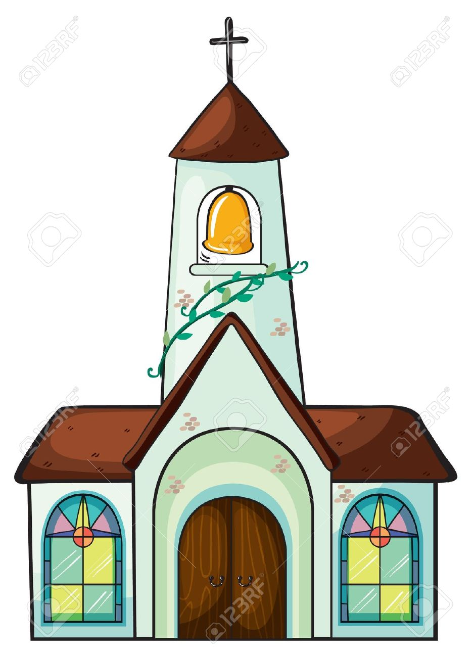 Illustration Of A Church On A White Background Royalty Free.