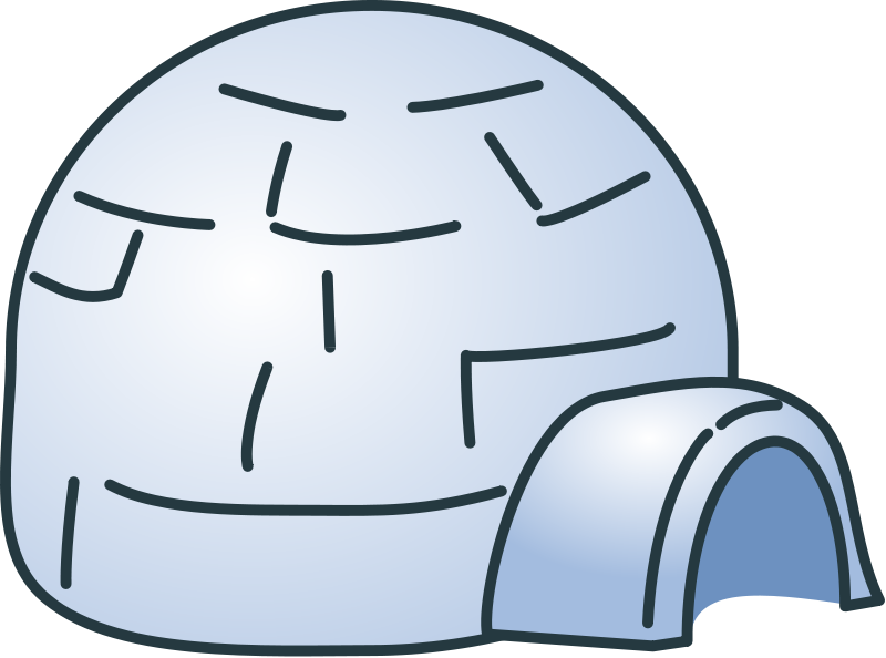 Free to Use & Public Domain Igloo Clip Art.