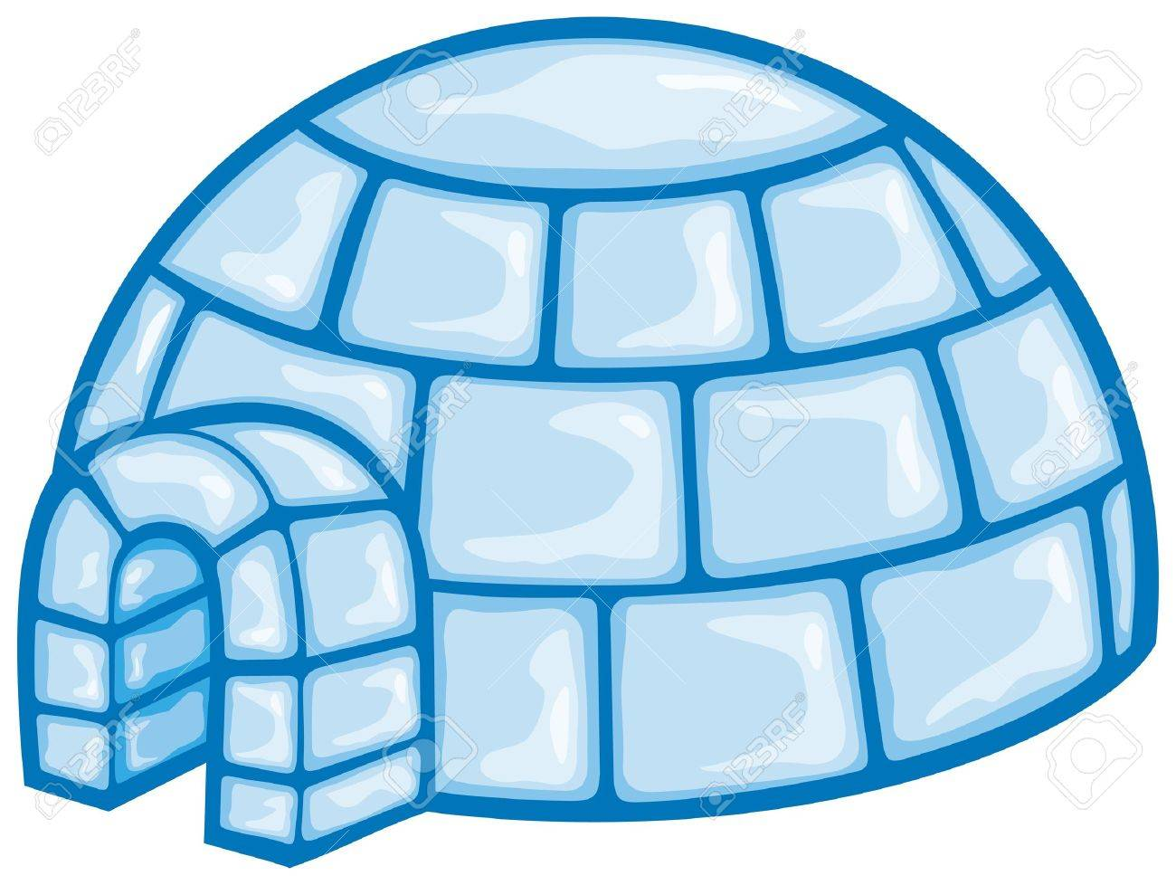 illustration of a igloo cartoon vector illustration of a igloo,...