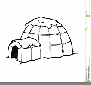 Igloo Cartoon Clipart.
