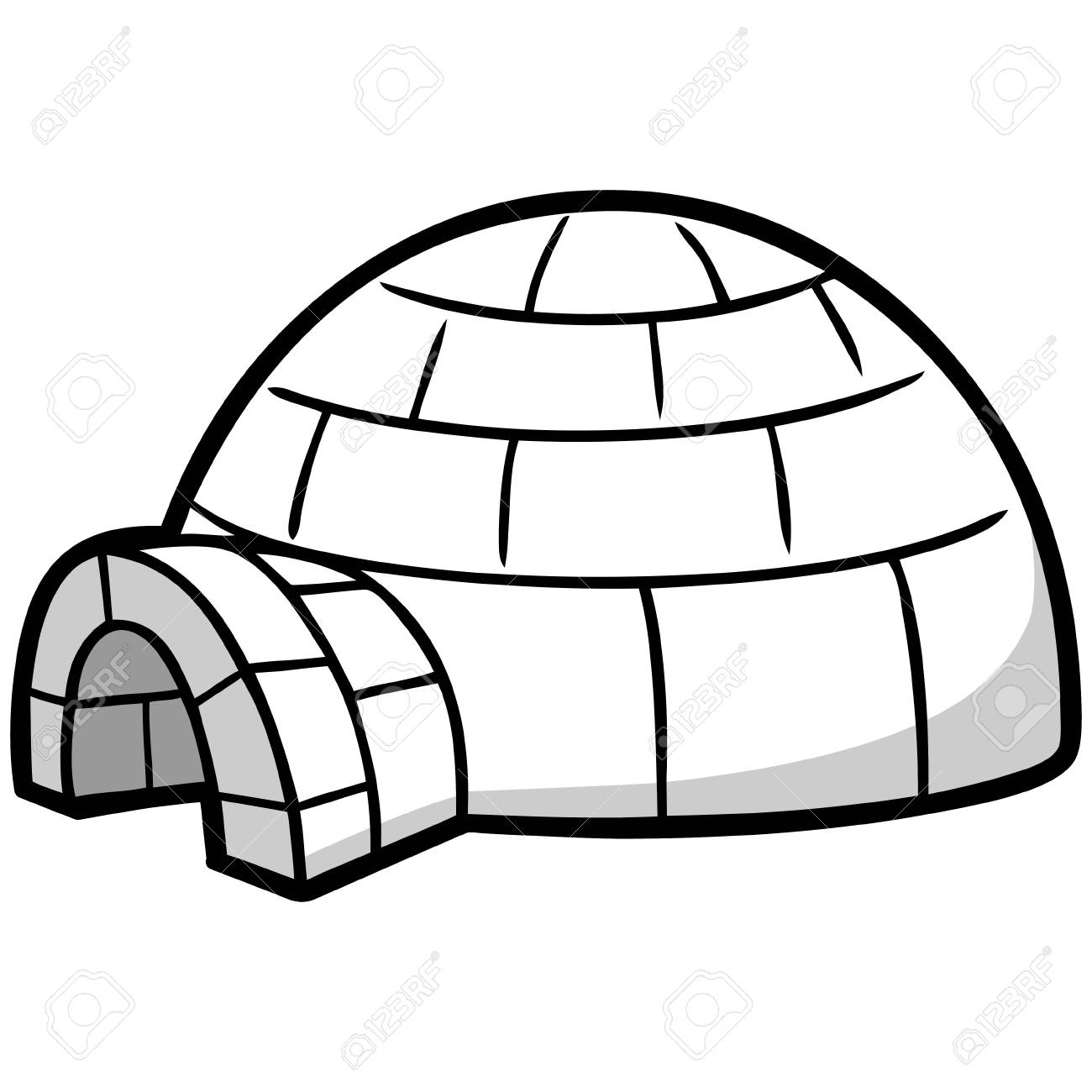 Igloo clipart Awesome Igloo Illustration Royalty Free Cliparts.