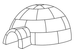 Igloo black and white clipart » Clipart Station.