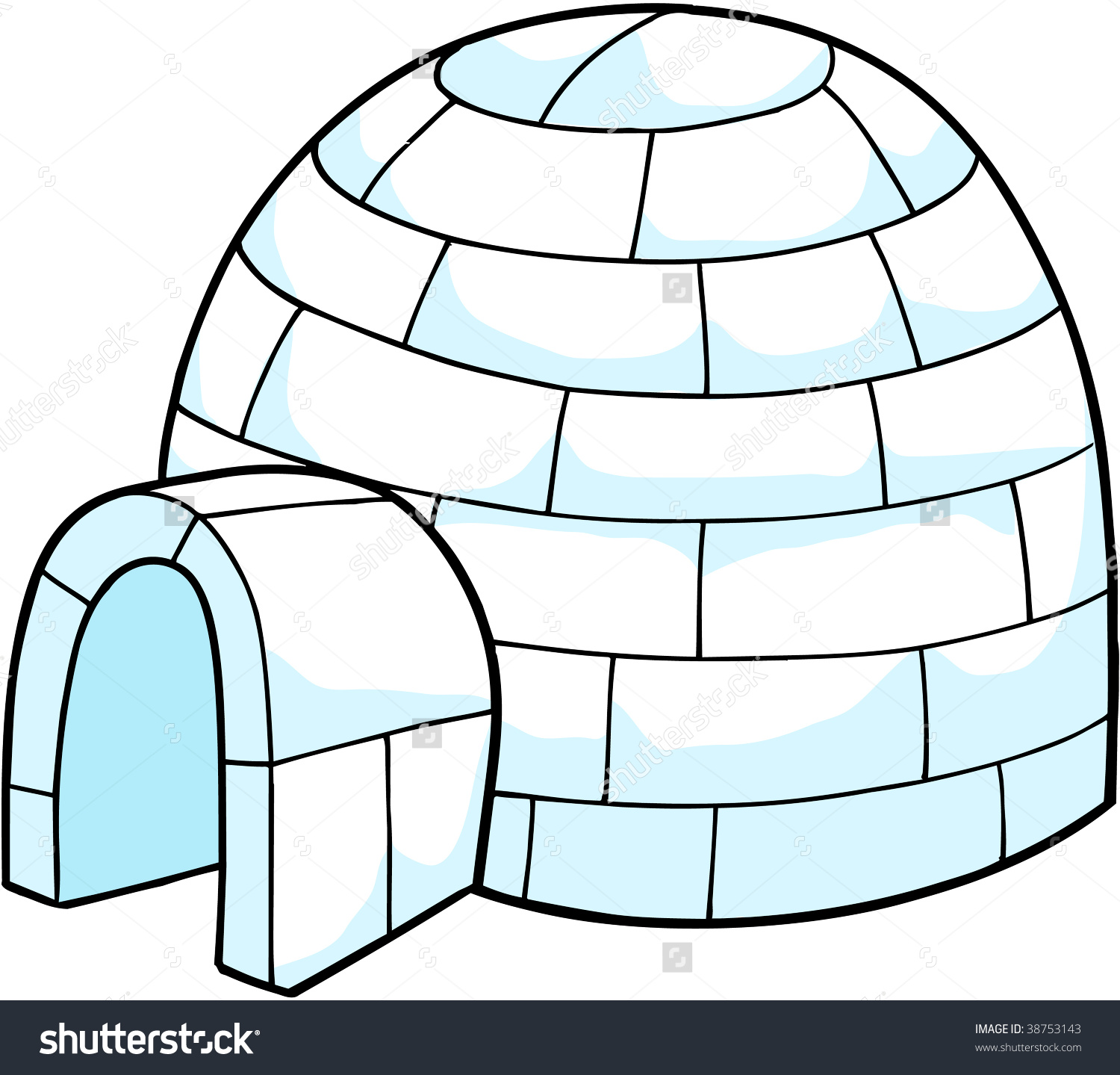White Snow Igloo Vector Illustration Stock Vector 38753143.