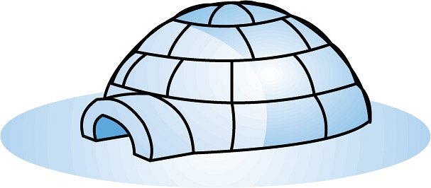 Cartoon Igloo Clipart#2028068.