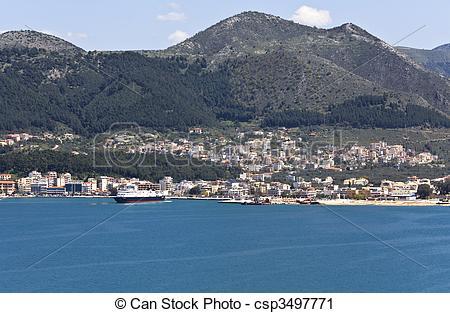 Stock Fotografie van haven, igoumenitsa, Griekenland.