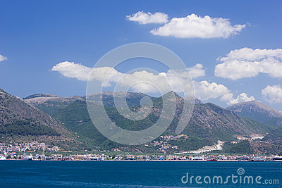 Igoumenitsa City And Port Aerial View Stock Photo.