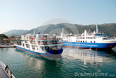 Arrival Of Ships In Port Of Igoumenitsa, Greece Editorial Image.