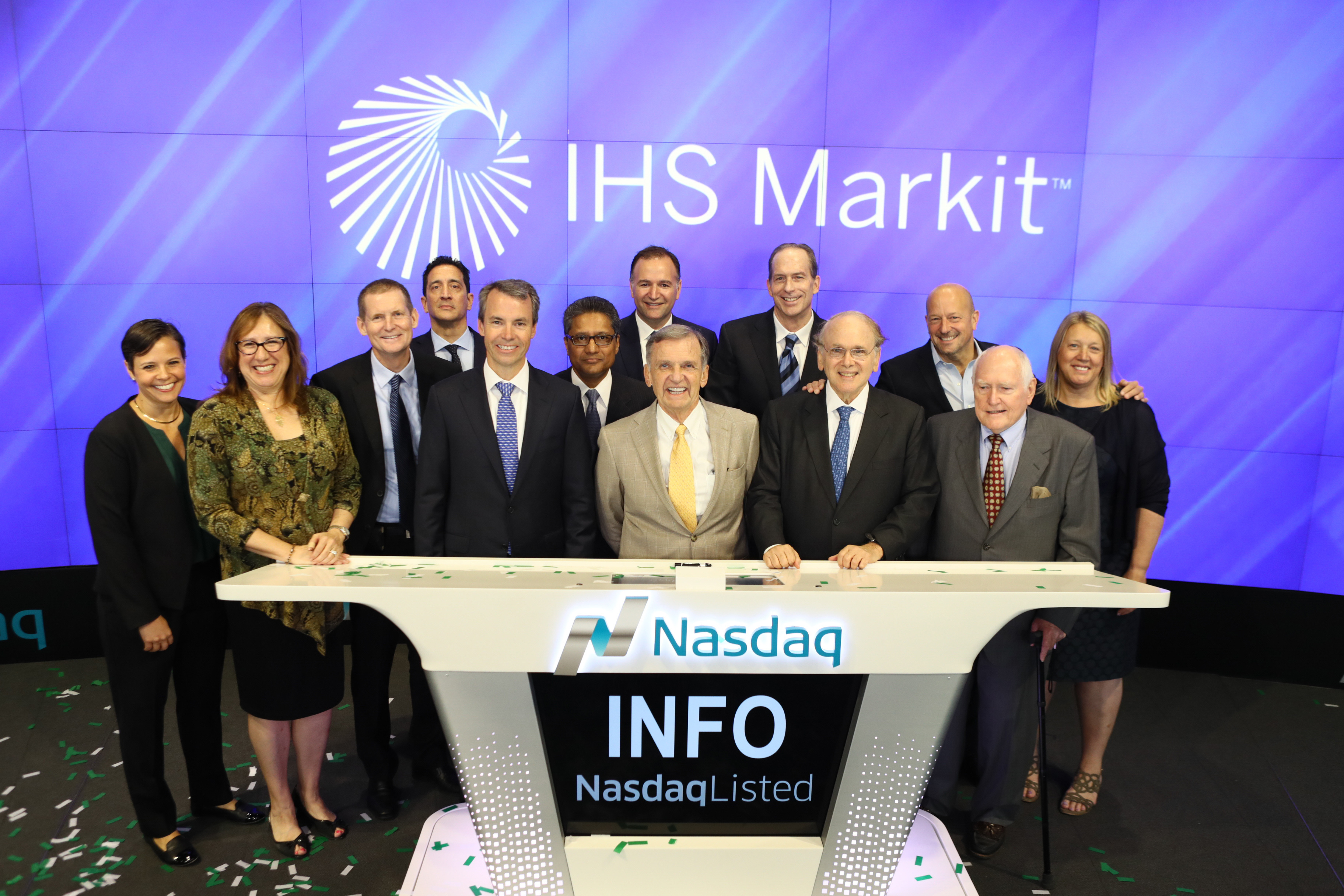 IHS Markit Rings Opening Bell at Nasdaq, Unveils New Logo.