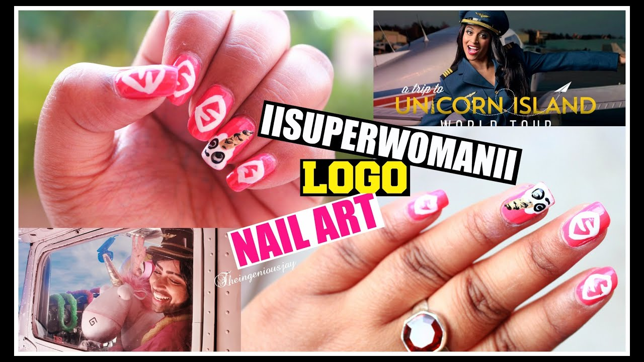 IISUPERWOMANII Logo Inspired Nail Art.