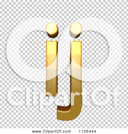 3d Gold small ligature ij Clipart Royalty Free CGI Illustration by.