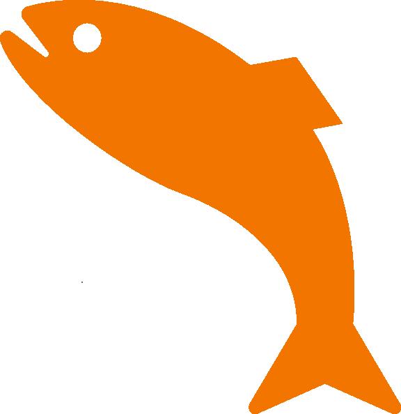 Orange Jumping Fish Clip Art at Clker.com.