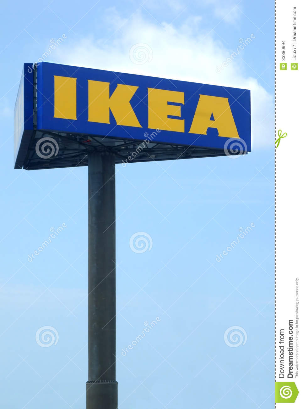 Ikea Big Billboard Editorial Stock Image.