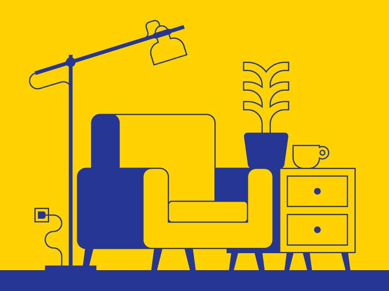 IKEA by Kos Q. on Dribbble.