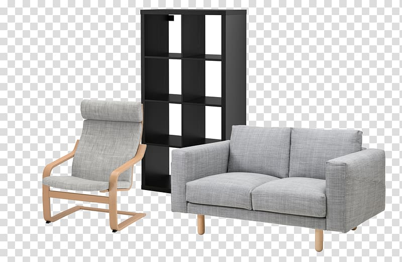 Couch IKEA Furniture Living room Shelf, living room transparent.