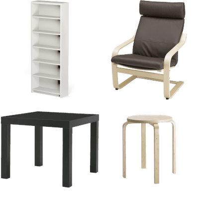 Ikea Furniture transparent PNG images.