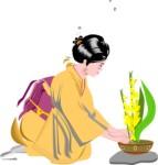 Ikebana, clipart Corel Xara.