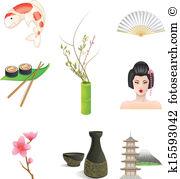 Ikebana Clip Art Royalty Free. 68 ikebana clipart vector EPS.