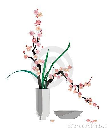 Ikebana clip art.