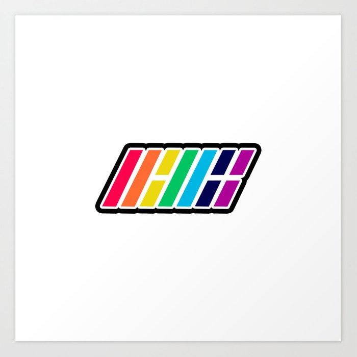 iKON Rainbow (LOGO) Art Print.