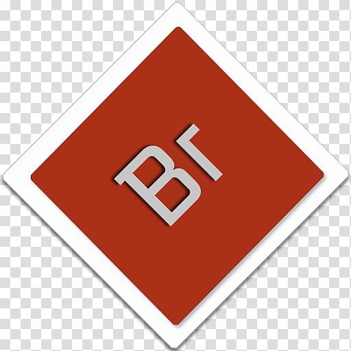 Smileee Ikon , red Br logo transparent background PNG.