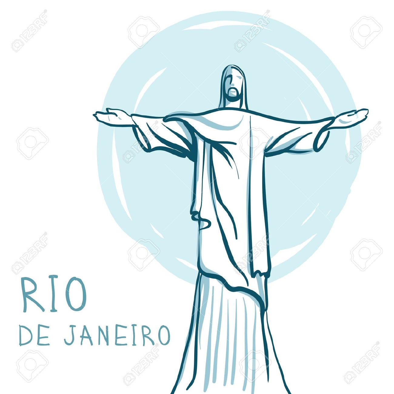 World Famous Landmark Series: Rio De Janeiro And Christ The.