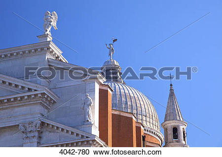 Stock Photography of Low angle view of a church, Il Redentore.
