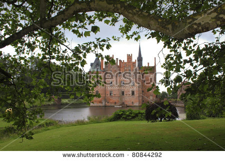 Fairytale Like Medieval Egeskov Castle On The Island Of Funen In.
