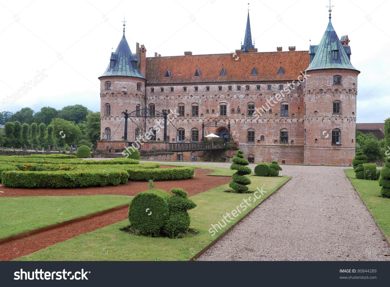 Fairytale Like Medieval Egeskov Castle On Stock Photo 80844289.