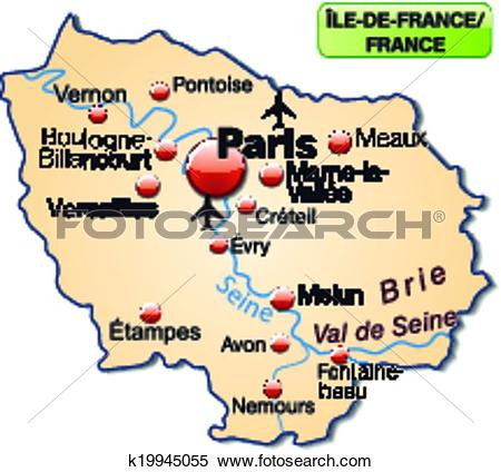 Clipart of Map of Ile.