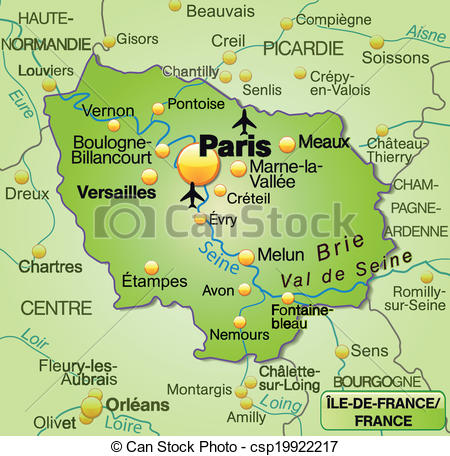 Vector Clip Art of Map of Ile.