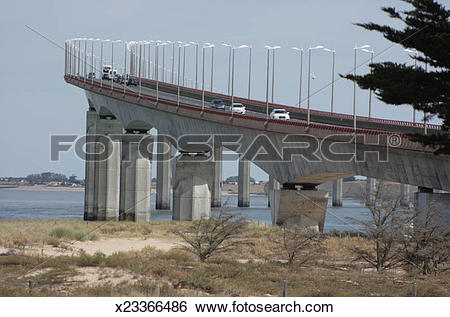 Stock Images of Ile de Re bridge, Charente.