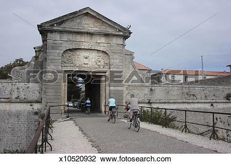Stock Photo of Porte de Toiras, Saint Martin de Re, Ile de Re.