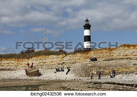 "Stock Images of ""Chassiron Lighthouse, Oleron Island, Ile d'Oleron."