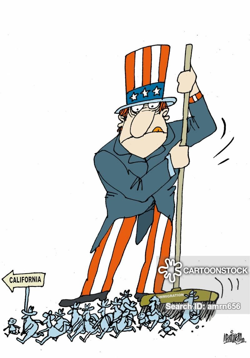 Illegal Immigration Cartoons and Comics.