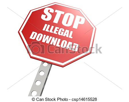 Illegal download Stock Illustrations. 241 Illegal download clip.