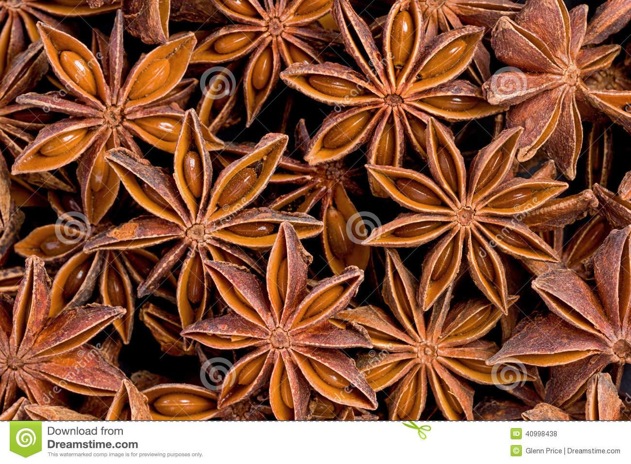 Star Anise (Illicium Verum) Stock Photo.