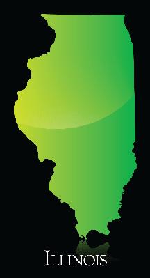 Illinois Green Shiny Map.