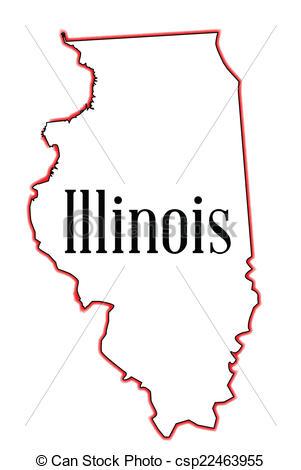 Clipart Vector of Illinois.
