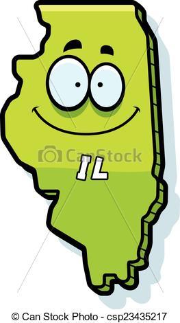 Vector Clip Art of Cartoon Illinois.