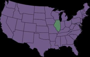 U.s. Map Highlighting Illinois Clip Art at Clker.com.